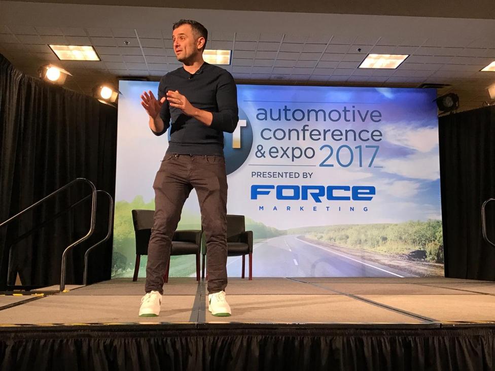 Gary Vaynerchuk speaking at CBT Automotive Conference