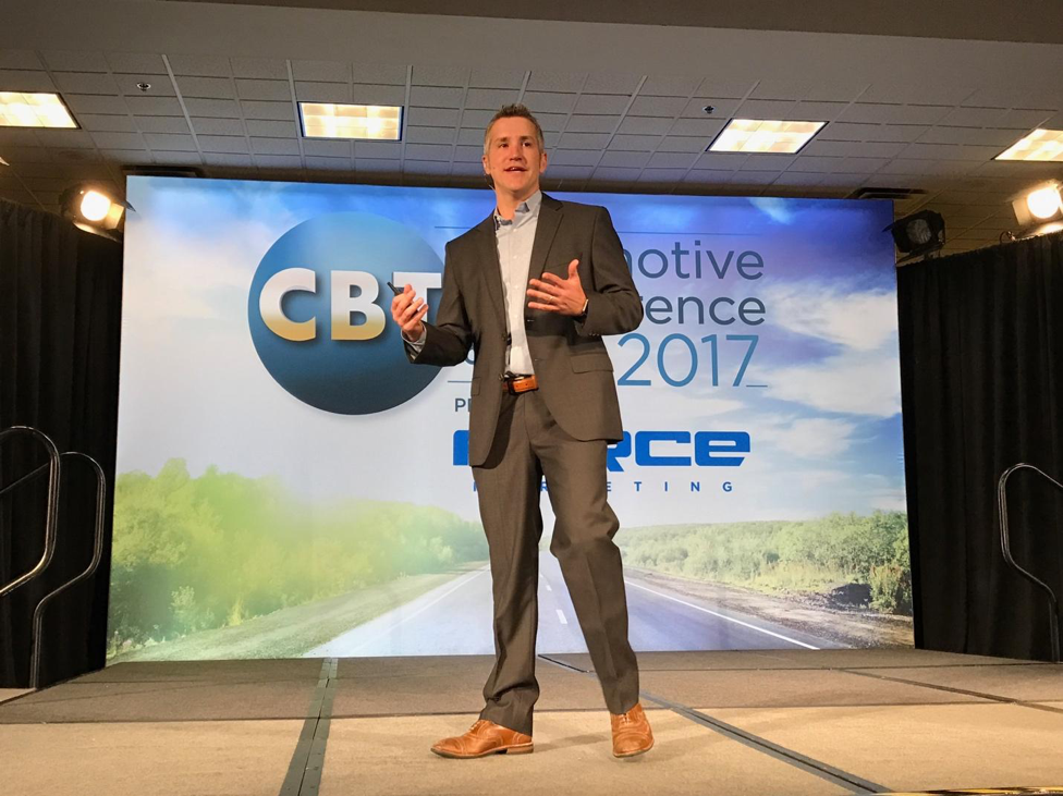 John Acuff speaking at CBT Automotive Conference