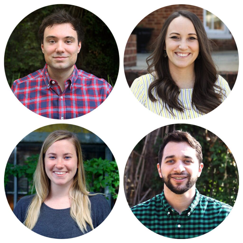Images of Mike Ayer, Kailee VanDamia, Emylee Connally, and Will Bocholis