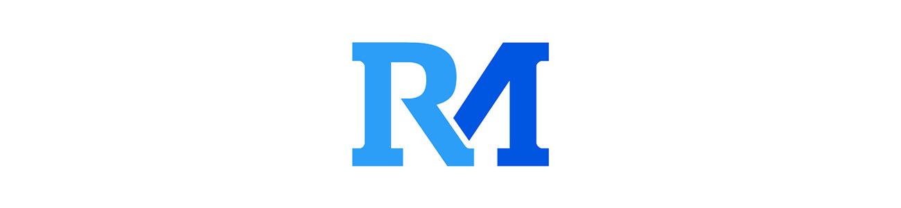 "Banner of Reunion Marketing's ""RM"" logo"