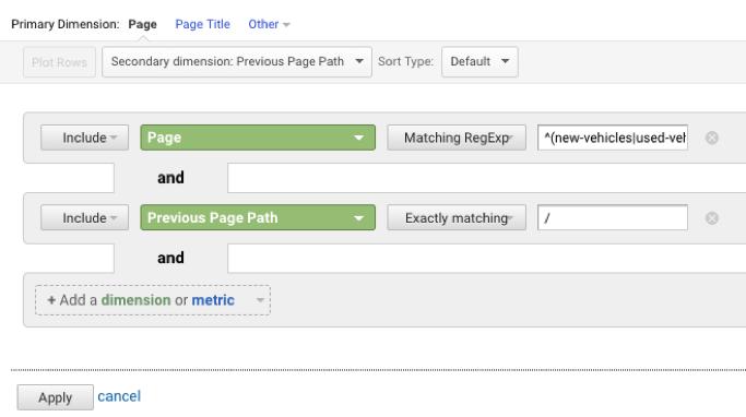 Filtering Data for Dealer Inspire in Google Analytics