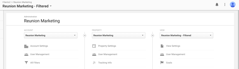 Google Analytics Dashboard Showing Where to Click for Property